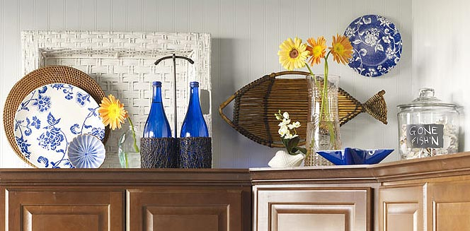 Over the cabinet decor 1
